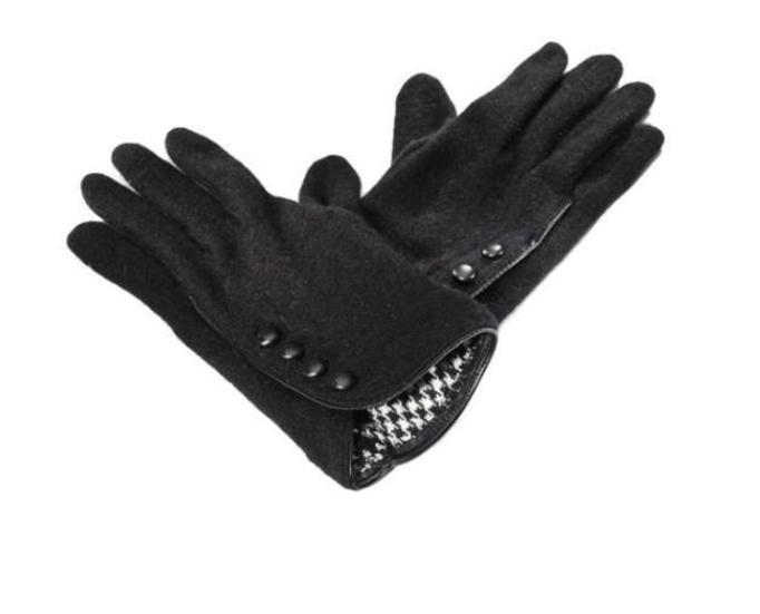 rękawiczki z panterkę