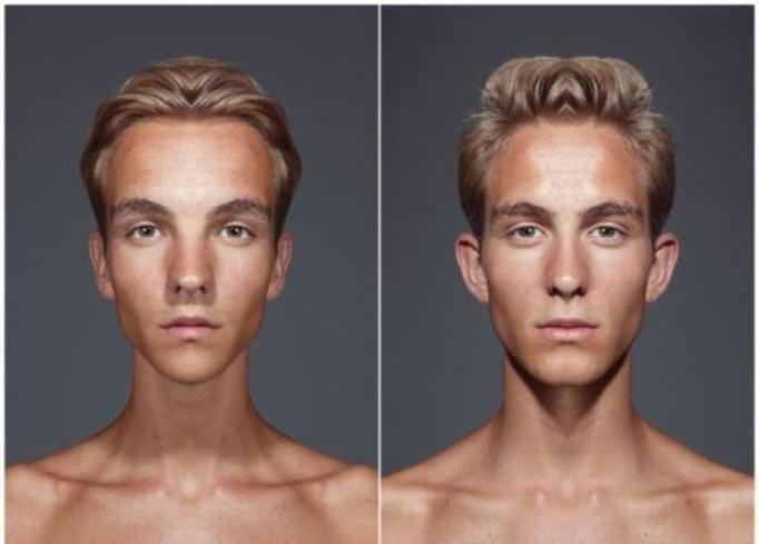 asymetria ludzkiej twarzy