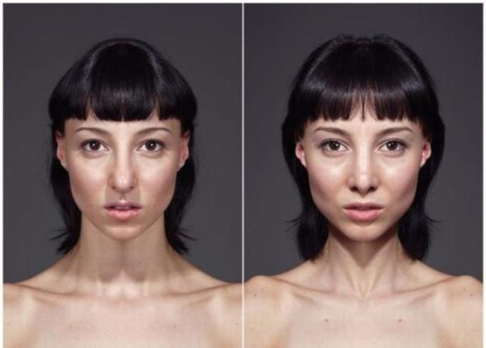 portrety z połówek twarzy
