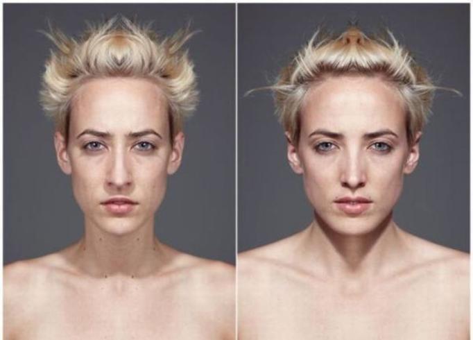 zdjęcia z połówek twarzy