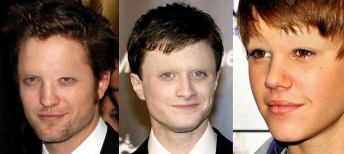 Robert Pattinson, Daniel Radcliffe, Justin Bieber