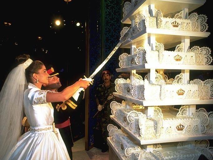 tort weselny króla abdullaha