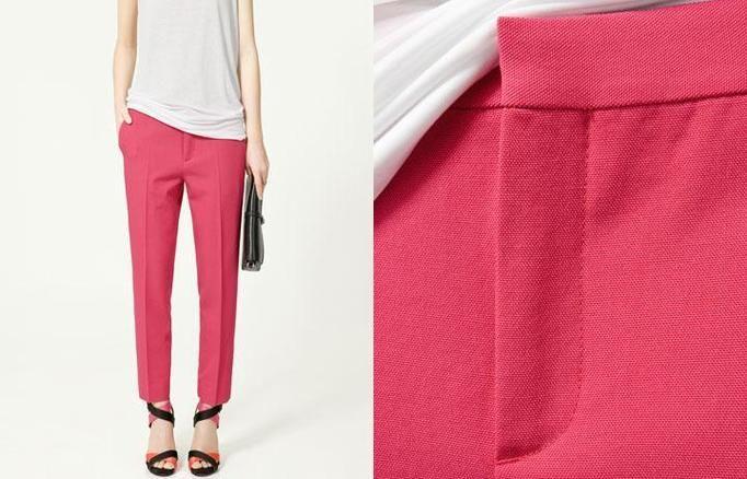 spodnie różowe zara