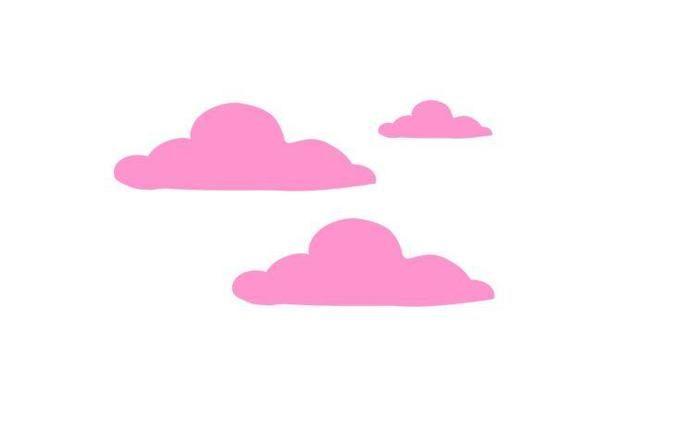 naklejka na ścianę chmury