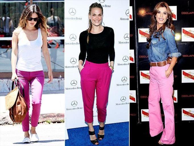 Różowe spodnie