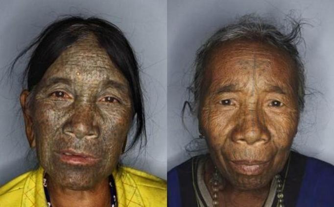 tatuaże na twarzy