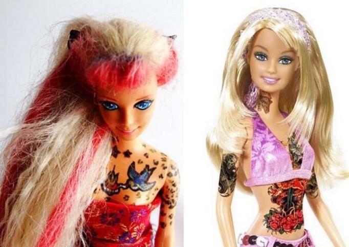 barbie with tatoos