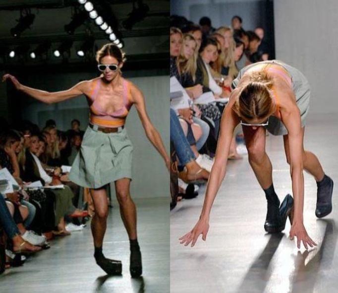 upadki modelek