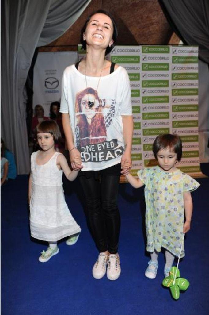 Anna Świątczak z córkami