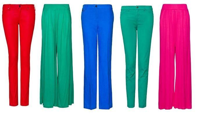 kolorowe spodnie