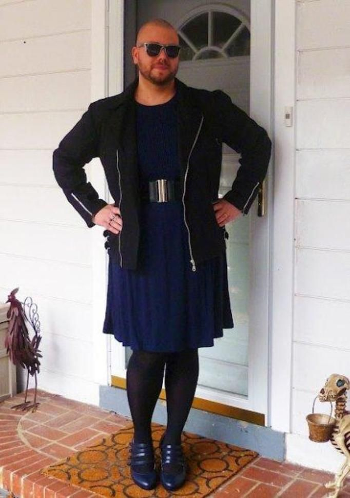 His Black Dress