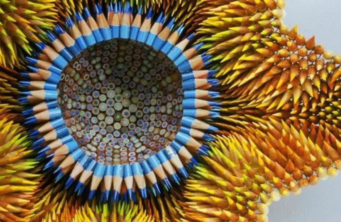 Rzeźby z ołówków