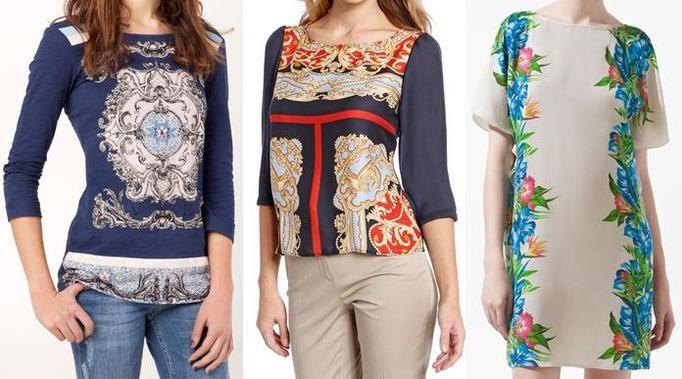 Apaszkowe wzory moda lato 2012