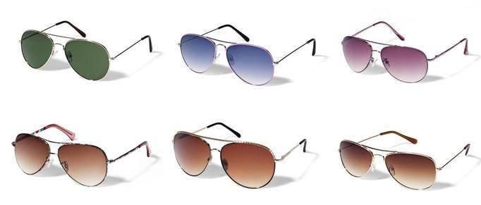 New Yorker okulary przeciwsłoneczne aviatorki