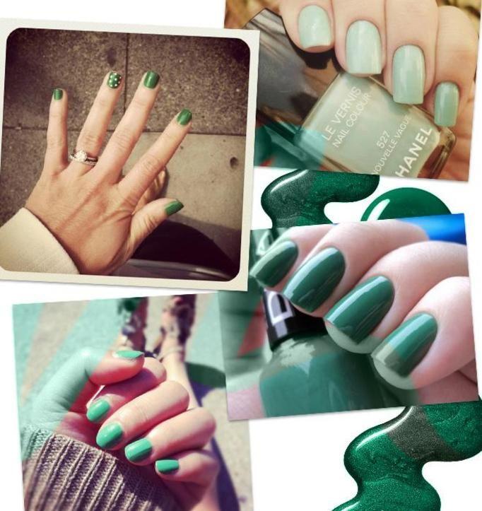 Zielony lakier do paznokci