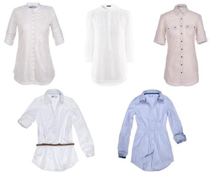 Białe koszule jesień 2012