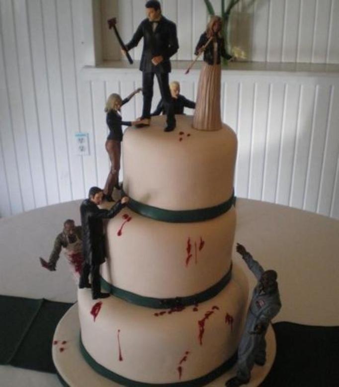 Mroczne torty weselne