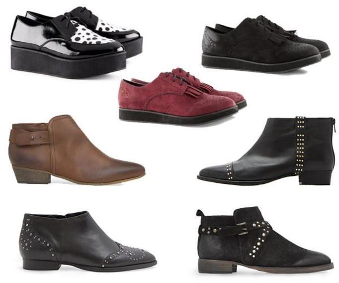 Płaskie buty jesień 2012