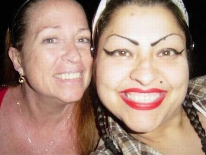 Przerysowany makijaż
