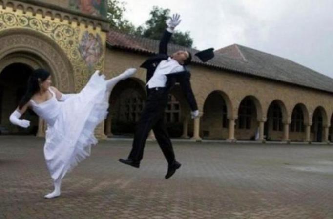 Zwariowane zdjęcia ślubne