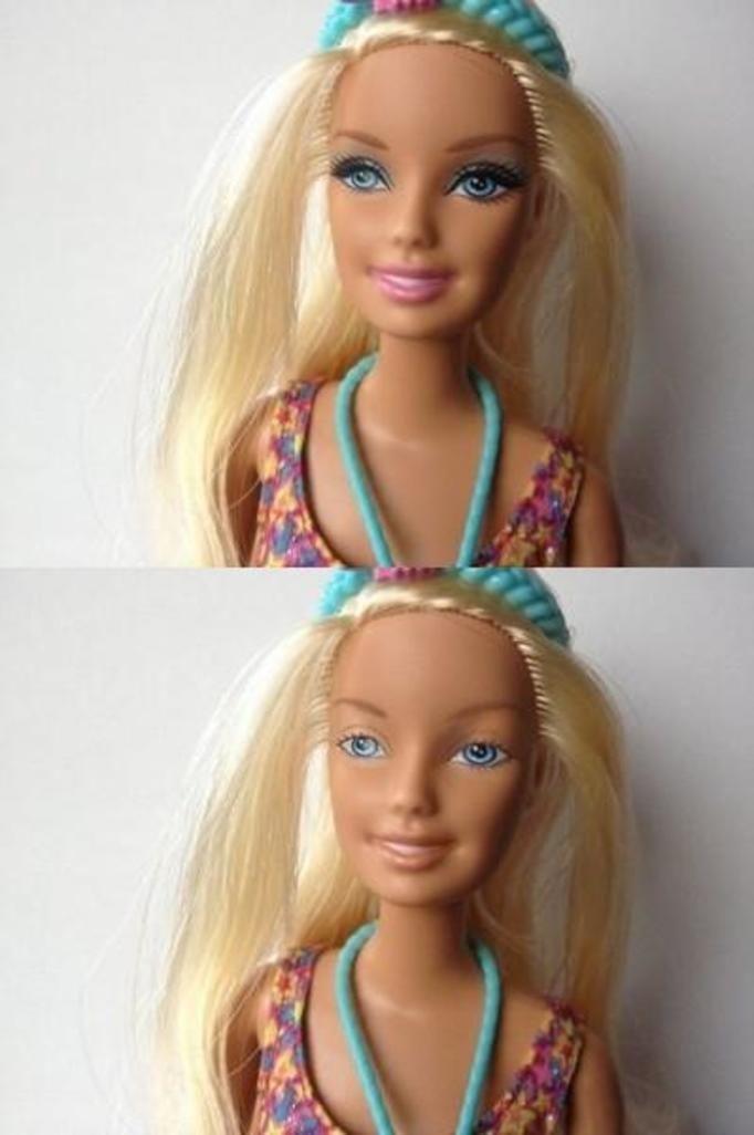 Lalka Barbie bez makijażu