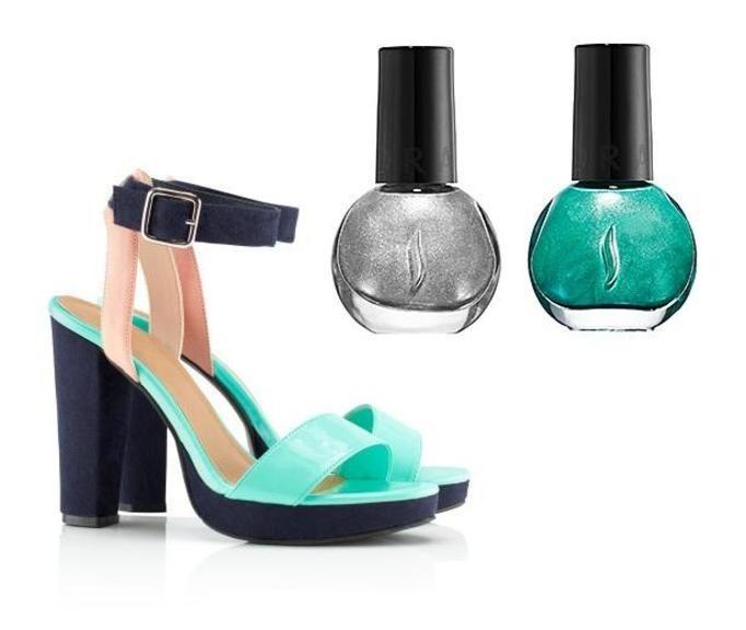 Kolorowe sandały lato 2012