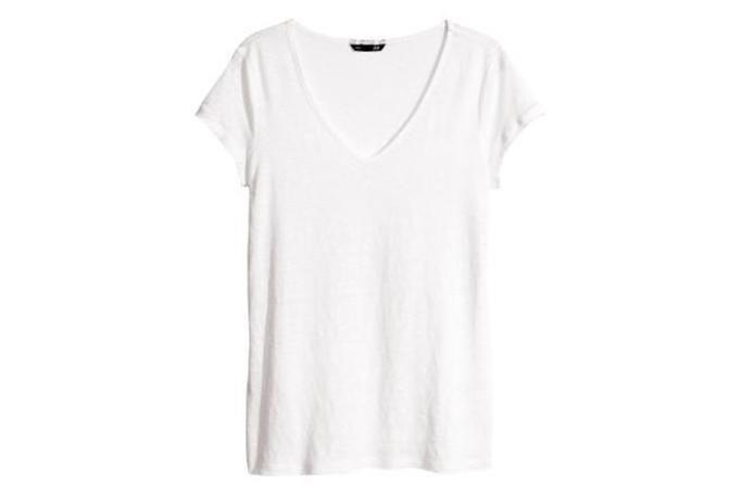lniana koszulka h&m