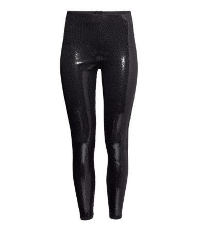 Cekinowe legginsy, ok. 80zł