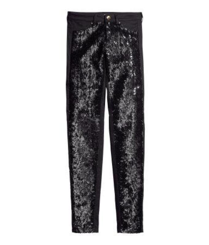 Cekinowe spodnie H&M, ok. 129zł
