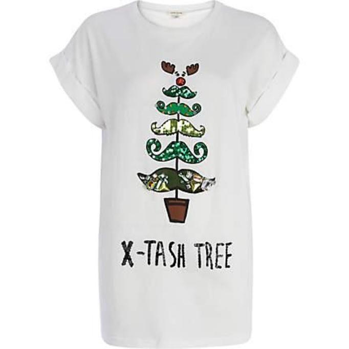 T-shirt z cekinowym motywem River Island, ok. 125zł