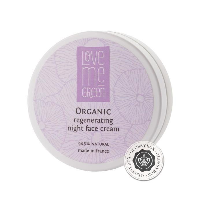 Organic regenerating night face cream