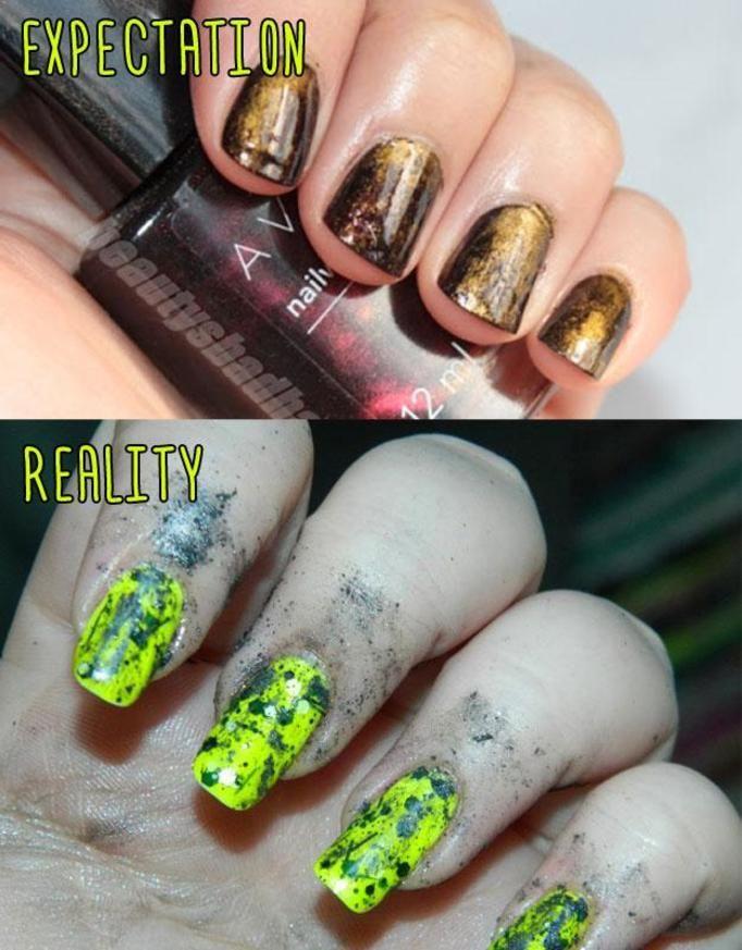 brzydki manicure