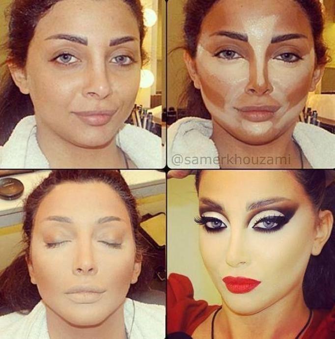kontur twarzy