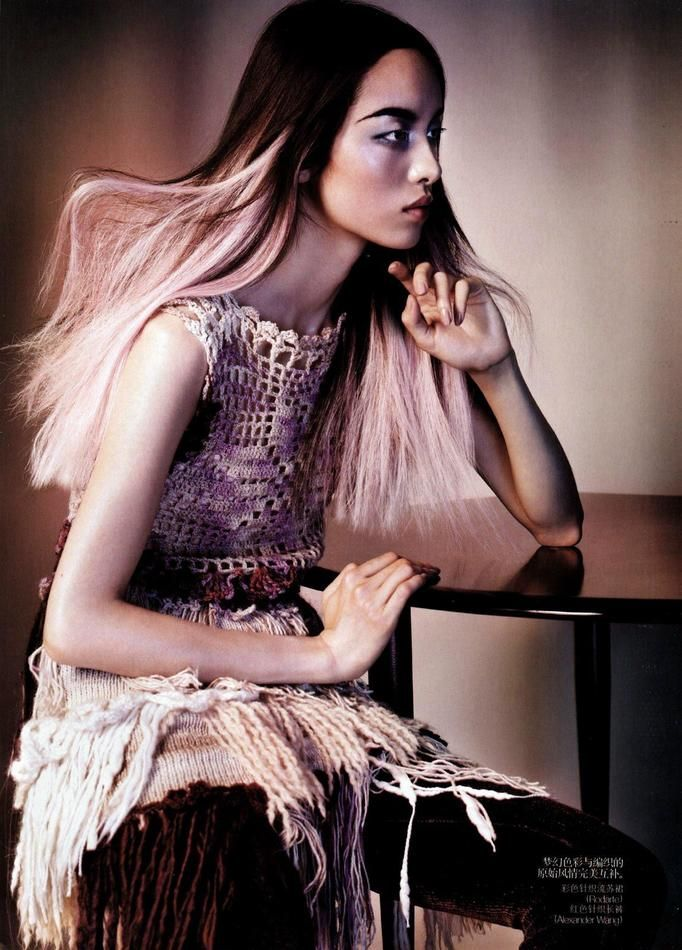 model with ombre vogue china 2010