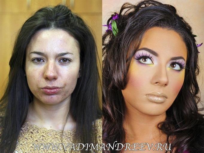 mocny makijaż