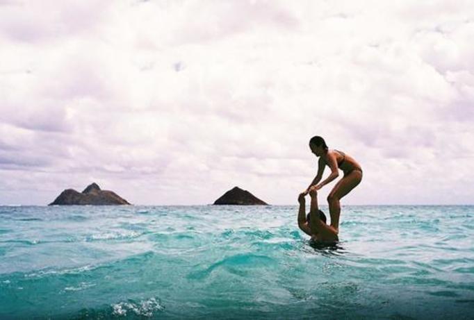 morze dziewczyna