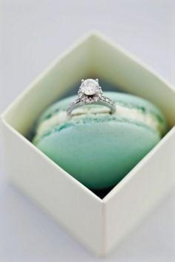 pierścionek macaron
