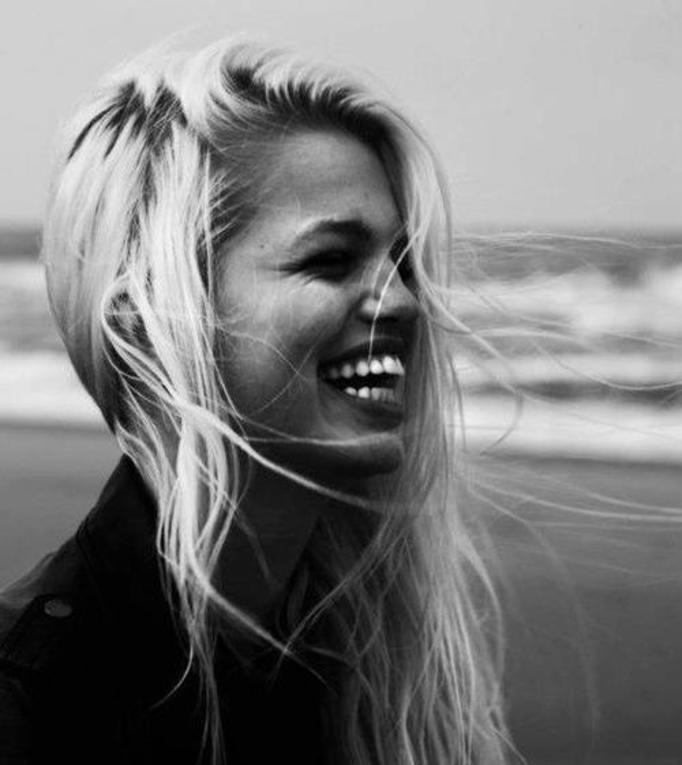 uśmiech modelka