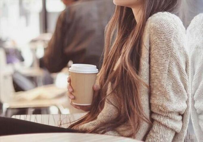 dziewczyna kawa