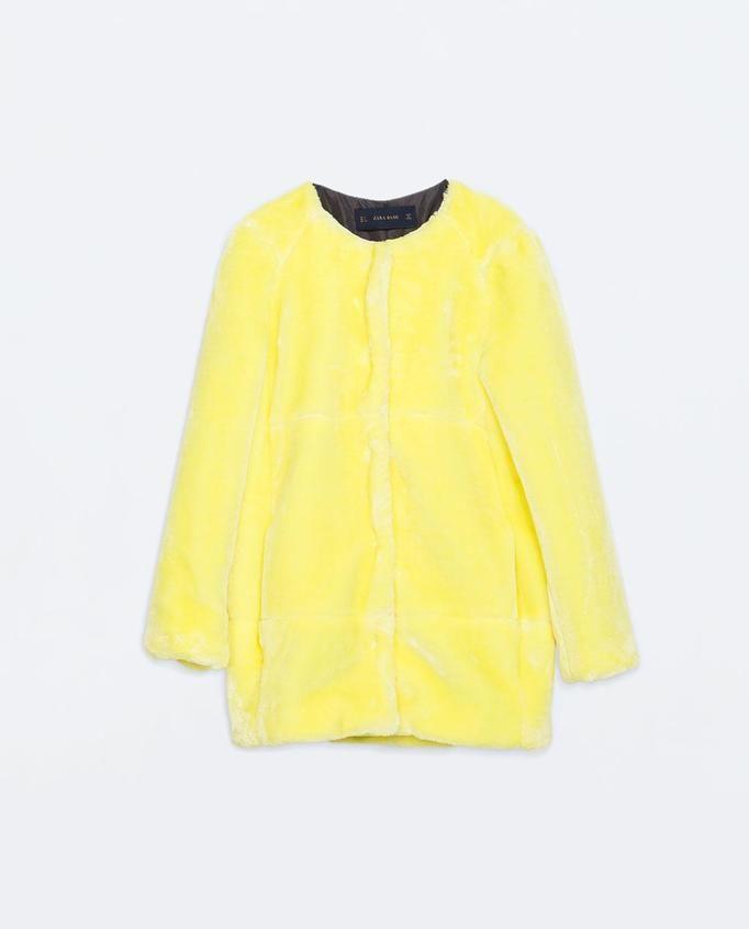 futrzany płaszcz Zara, ok. 369zł