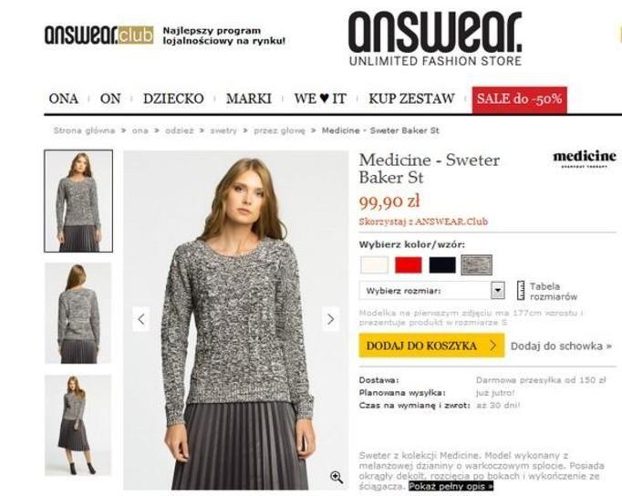 Sweter, 99,90 zł