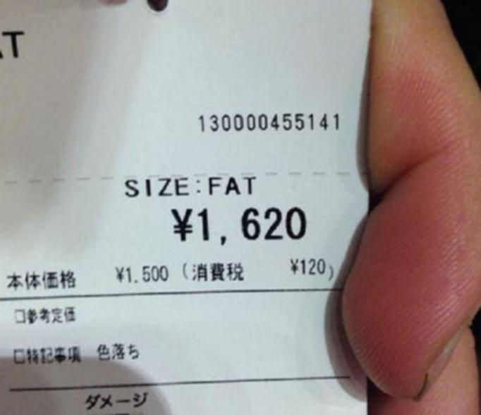 fat size japan