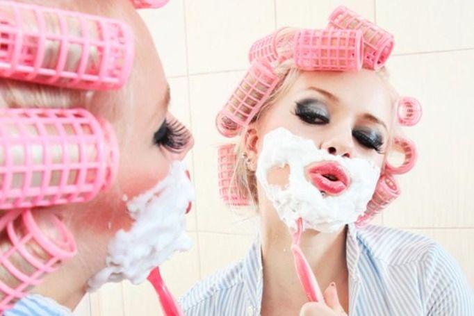 golenie twarzy