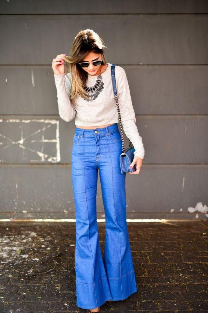flare jeans street style