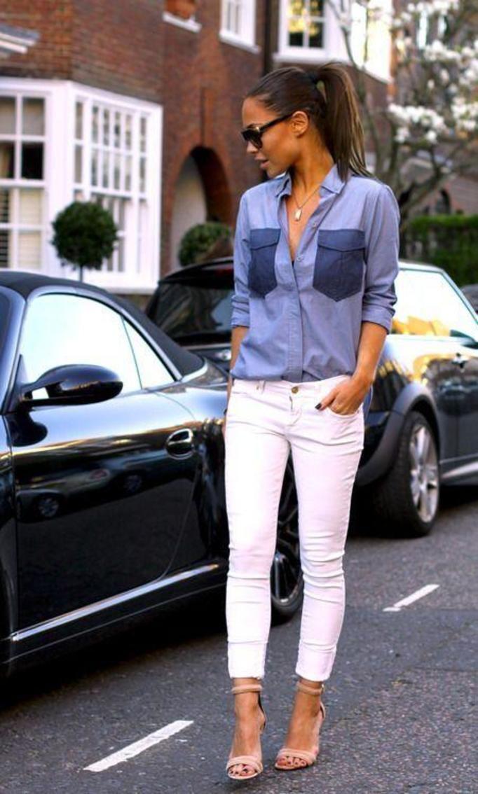 białe spodnie