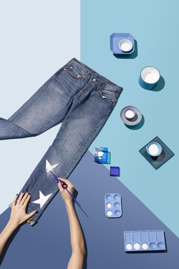 DIY stemple jeansy