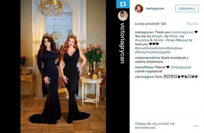 Marta i Wiktoria na Instagramie