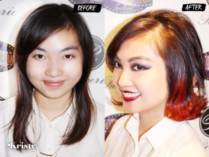 Wizyta u fryzjera: Przed i po