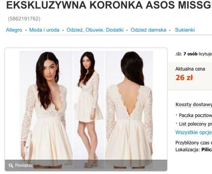sukienka na sylwestra