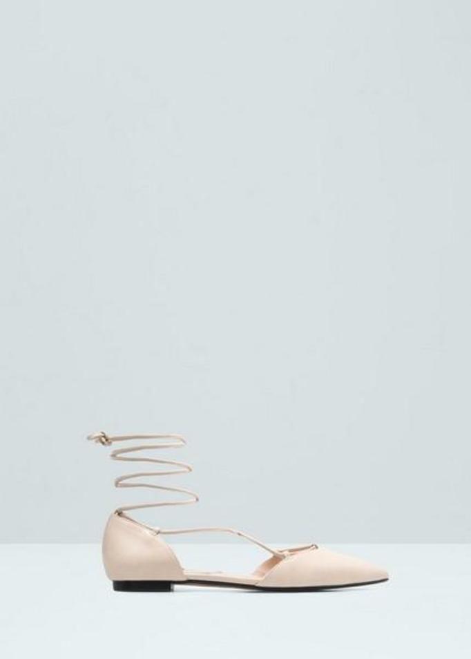 Sznurowane baleriny
